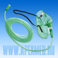 Маска кислородная с трубкой 2м