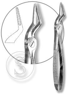 Щипцы для удаления корней зубов верхней челюсти с узкими губками, №51А