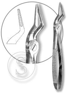 Щипцы для удаления корней зубов верхней челюсти со средними губками, №51