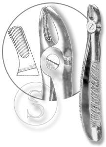 Щипцы для удаления молочных моляров верхней челюсти, №39