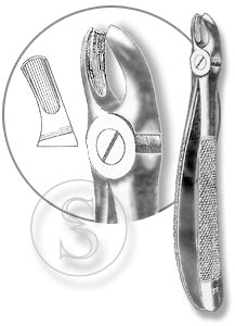 Щипцы для удаления моляров верхней челюсти левой стороны, №18