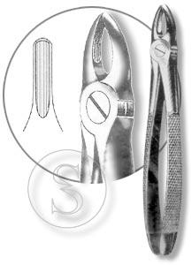 Щипцы для удаления резцов и клыков верхней челюсти, №2