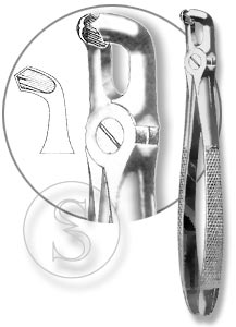 Щипцы для удаления третьих моляров нижней челюсти, №79