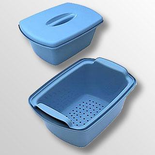 Контейнер для дезинфекции и стерилизации с перфорированным поддоном