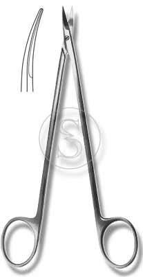 Ножницы остроконечные вертикально-изогнутые