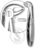 Щипцы для удаления клыков, резцов, премоляров нижней челюсти, №13 (П)